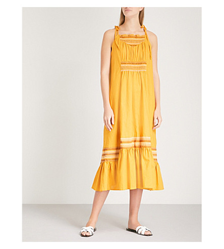 FREE PEOPLE Another Love woven maxi dress (Gold