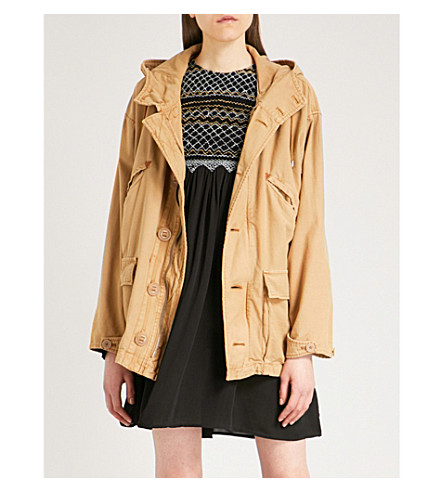 FREE PEOPLE Joshua Tree hooded cotton jacket (Sand