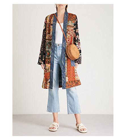 FREE PEOPLE Songbird cotton jacket (Blue+combo