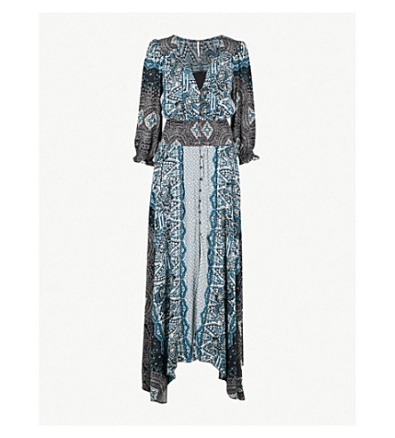 FREE PEOPLE Mexicali rose woven maxi dress (Black