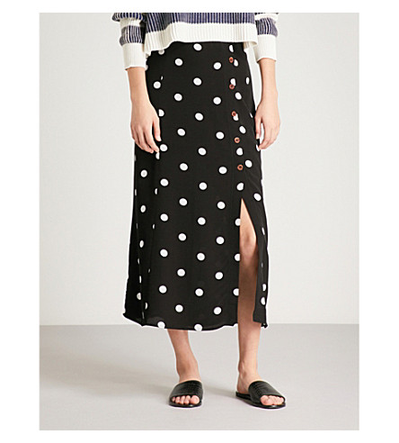 Amazon Cheap Price FREE PEOPLE Retro Love crepe midi skirt Black and white combo Extremely Cheap Online Clearance View Discount 2018 Fast Express tHzlAL