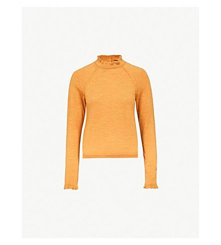 FREE PEOPLE High-neck merino-wool jumper (Mustard
