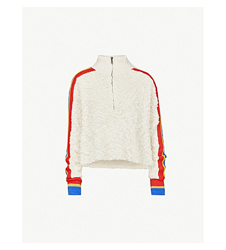 FREE PEOPLE Marshmallow striped cotton-blend jumper (Cream