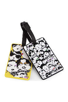 LANVIN Visages luggage tags