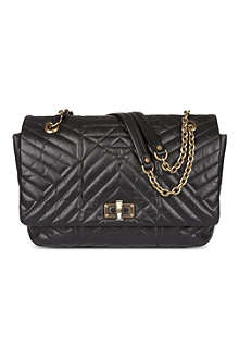 LANVIN Happy large quilted leather shoulder bag