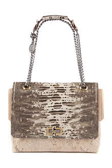 LANVIN Happy medium lizard-print shoulder bag