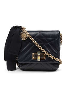 LANVIN Happy mini leather shoulder bag