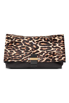 LANVIN Ponyskin and leather oversized clutch