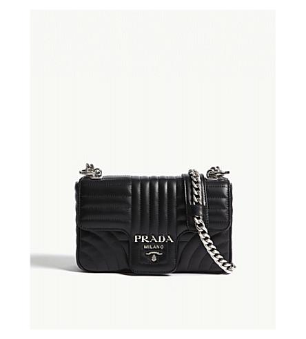 PRADA Quilted leather shoulder bag (Black