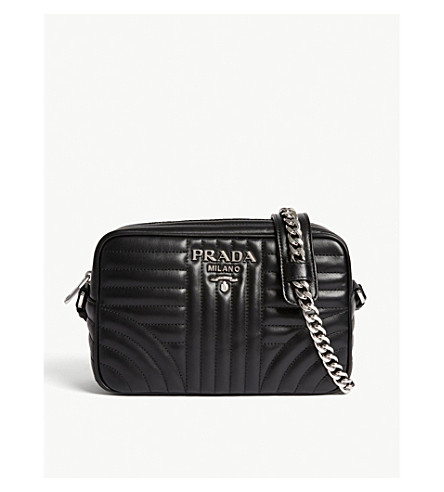 PRADA Quilted leather camera bag (Black