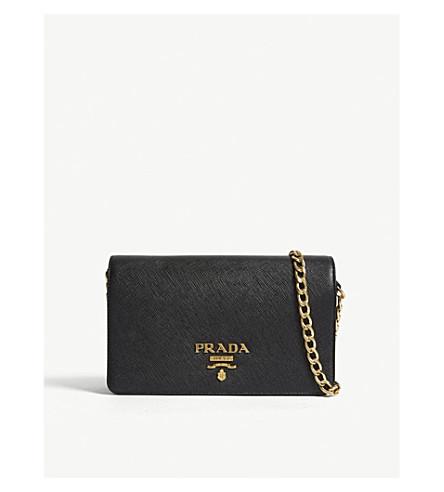 b1a7f16b6d06 PRADA - Core Saffiano leather wallet-on-chain