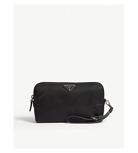 869e1afd7097 ... PRADA Logo nylon cosmetic pouch (Black. PreviousNext