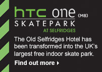 HTC One (M8) Skatepark at Selfridges - find out more