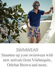 Smarten-up your swimwear with new arrivals from  Vilebrequin, Orlebar Brown and more.