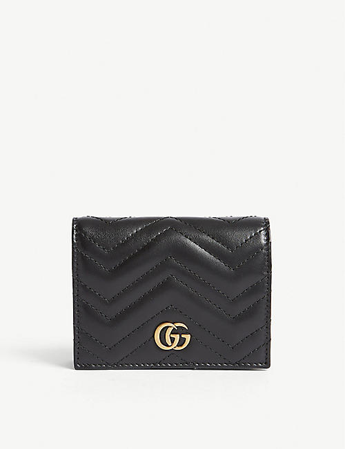 GUCCI GG Marmont 皮革卡夹