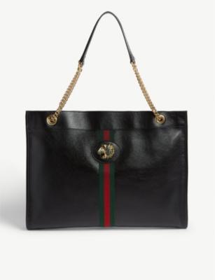 Rajah large leather tote bag(7771517)