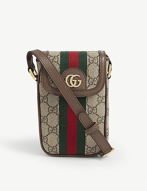 GUCCI GG Ophidia phone canvas cross-body wallet