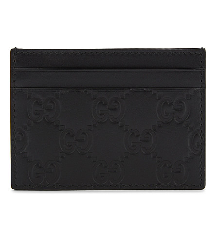 GUCCI Signature leather card holder (Black