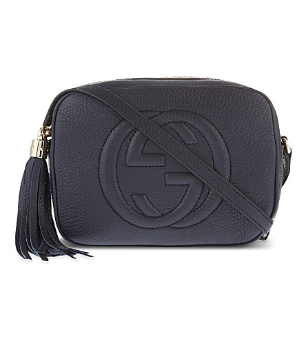 GUCCI Soho leather cross-body bag (Blue
