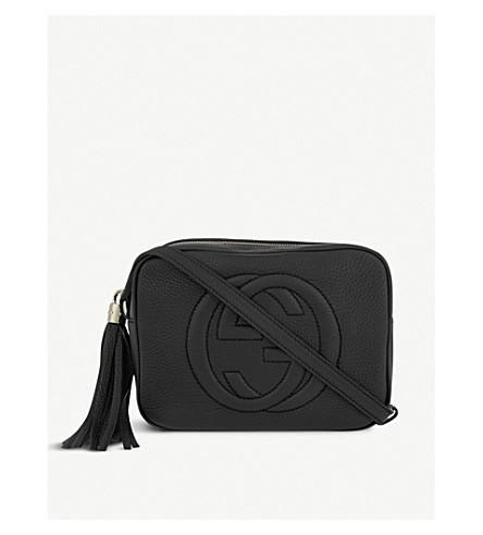 GUCCI Soho leather cross-body bag (Nero