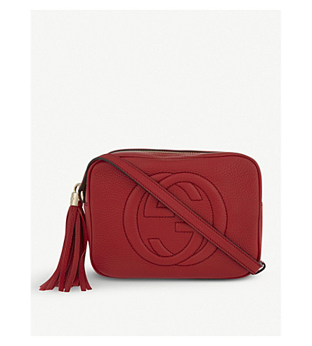 GUCCI Soho leather cross-body bag (Tabasco red