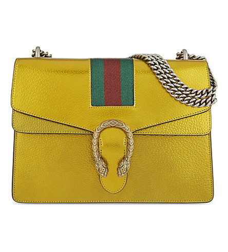 GUCCI Gucci Dionysus leather shoulder bag (Giallo/verde rosso