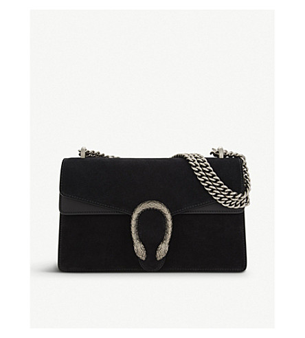 GUCCI Dionysus small suede shoulder bag (Black