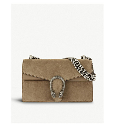 GUCCI Dionysus small suede shoulder bag (Taupe