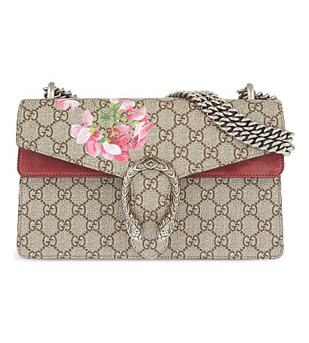 GUCCI Dionysus small leather floral shoulder bag (Multi