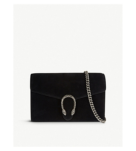 GUCCI Dionysus suede shoulder bag (Black