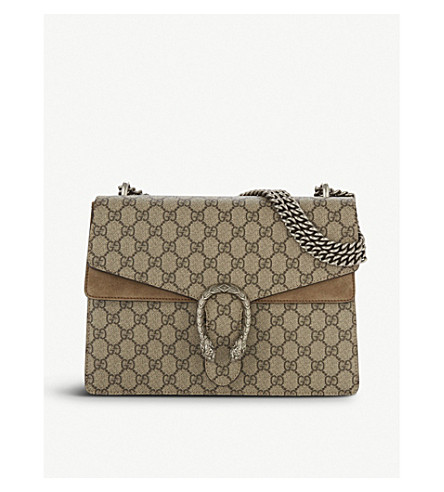 GUCCI Dionysus medium GG Supreme shoulder bag (Taupe