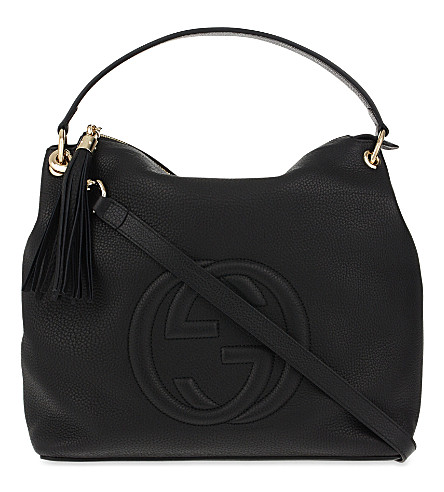 GUCCI Soho leather shoulder bag (Nero