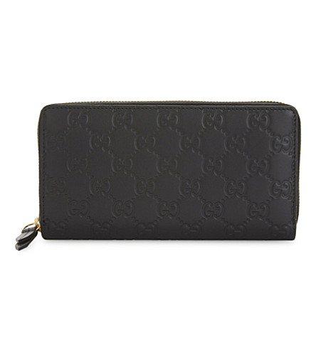 GUCCI GG leather continental wallet (Black