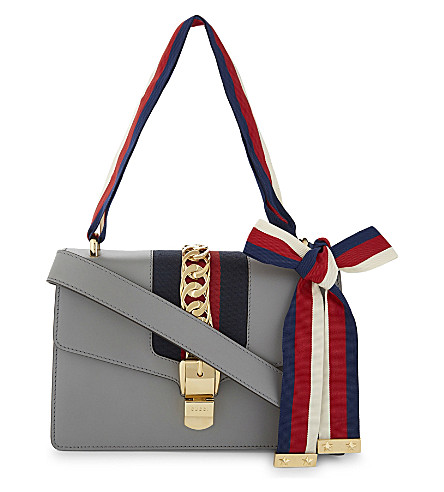 GUCCI Sylvie leather shoulder bag (Blue