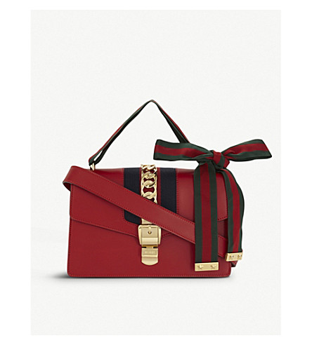 GUCCI Sylvie leather shoulder bag (Red