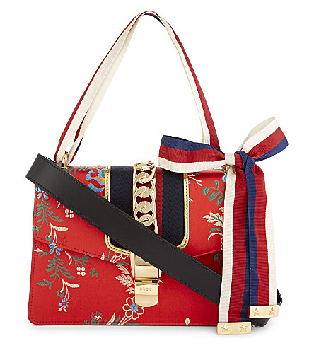 GUCCI Sylvie medium leather cross-body bag (Red