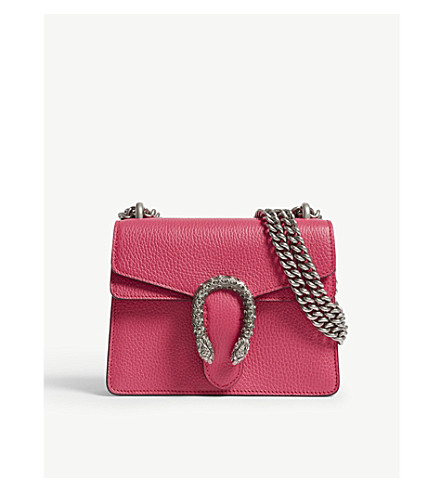 GUCCI Dionysus extra-small leather shoulder bag (Box+pink