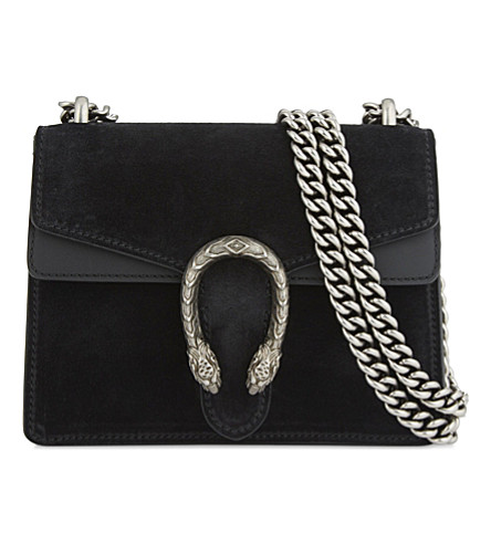 GUCCI Dionysus suede cross-body bag (Black