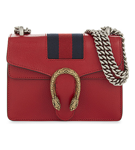 GUCCI Dionysus mini leather shoulder bag (Red