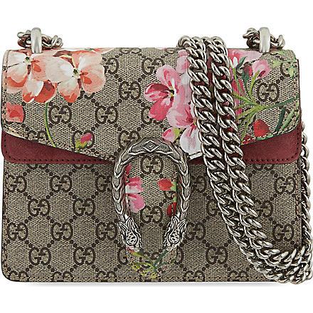 Gucci: Mini dionysus floral shoulder bag - Hiphunters Shop