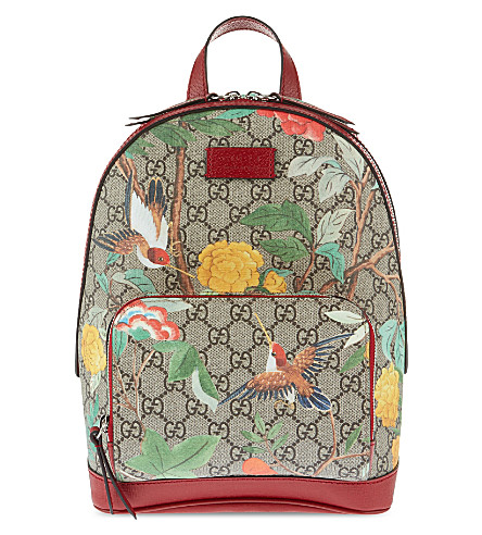 GUCCI Tian Garden canvas backpack (Multi