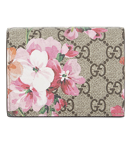 GUCCI Blooms card case (Blooms+pink