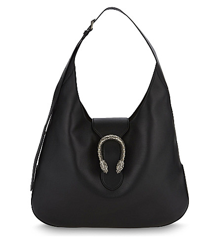 GUCCI Dionysus extra large leather hobo bag (Black+multi