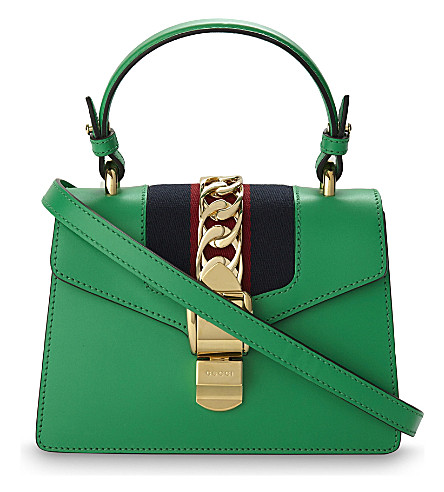 GUCCI Sylvie leather cross-body bag (Green