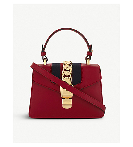GUCCI Sylvie leather cross-body bag (Red