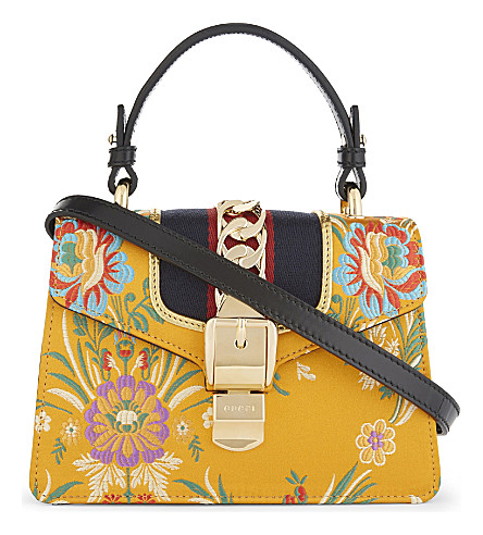 GUCCI Sylvie leather cross-body bag (Yellow