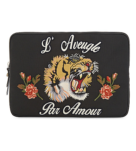 GUCCI L'Aveugle Par Amour laptop case (Black