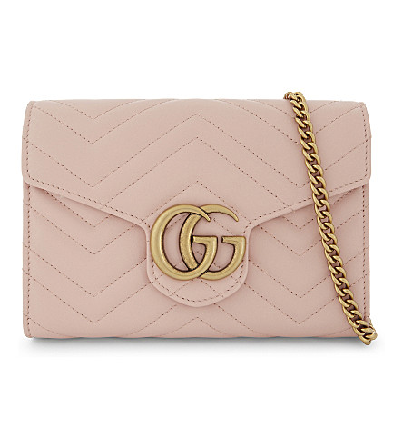 GUCCI Marmont leather cross-body bag (Pink
