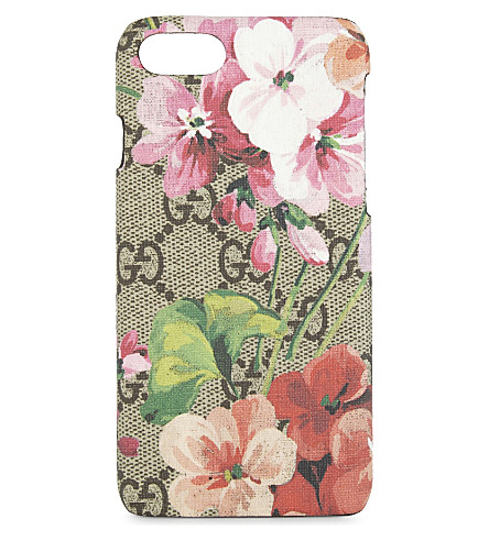 GUCCI Blooms GG Supreme iPhone 7 case (Blooms+pink