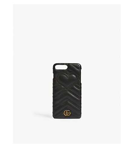GUCCI GG Marmont quilted leather iPhone 7 Plus case (Black